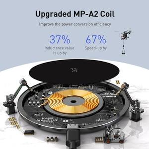 Image 2 - Baseus 15w qi carregador sem fio para airpods pro iphone 11 xs max rápida almofada de carregamento sem fio para samsung s10 s9 huawei p30 xiaomi