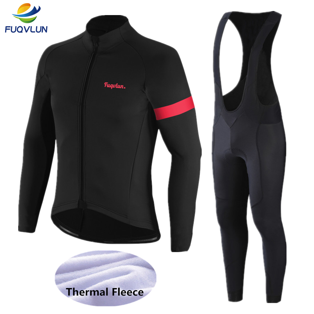FUQVLUN 2020 Winter cycling jersey Set Thermal Fleece Cycling Clothing Ropa Ciclismo Invierno MTB Bike Clothing Bicycle Wear