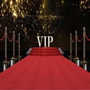 Сценический красный ковер фон для фотографии боке горошек Голливуд VIP вечерние тематический плакат фото Декор Фон