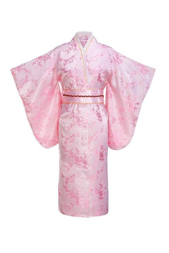 Kimono traditionnel japonais Yukata avec Obi robe de soirée Vintage Performance robe de danse Costume Cosplay taille unique