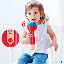 Hape Music instruments Musical Toys for kids Microphone without electronics baby toy цена