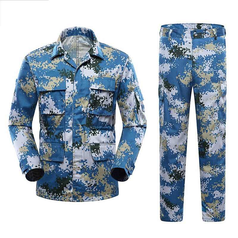 Military Uniforms For Man Long Sleeve Tactical Training Outdoor Clothes Camouflage Combat Army Suit Militar Soldier Work Wear