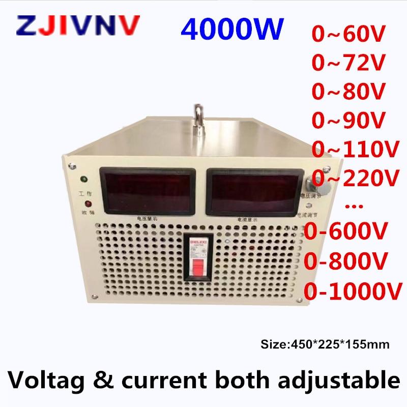 4000W alimentation à découpage sortie 300v 400v 500v 600v 700v 800v 1000v v courant et tension les deux AC-DC réglables smps