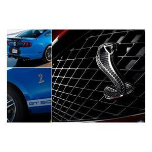 3D хромированная металлическая Автомобильная наклейка решетка Поворотная машина логотип для автомобильного стайлинга Эмблема Для Ford Mustang Shelby Cobra