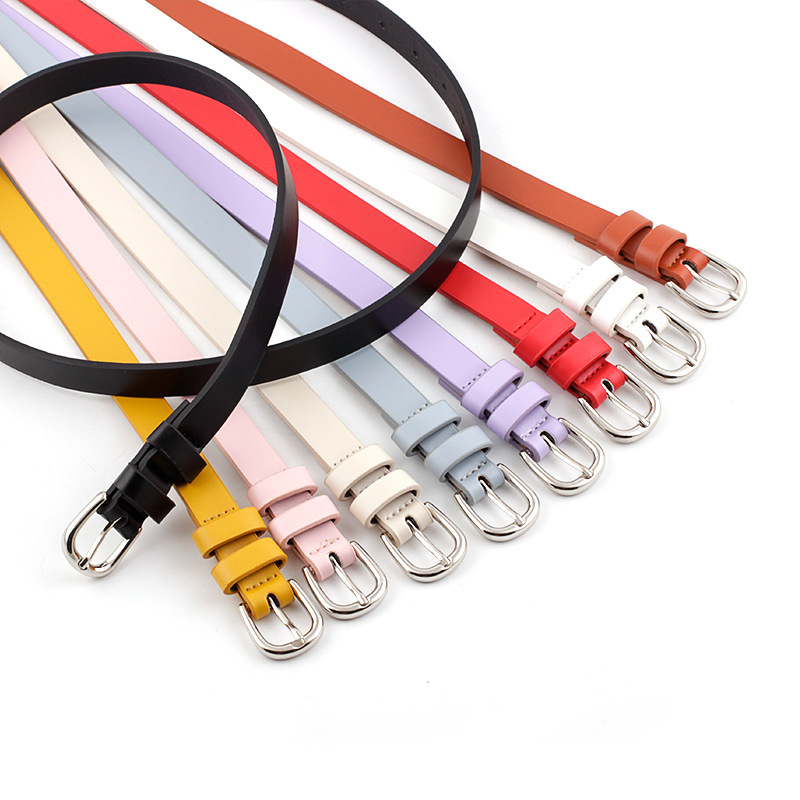 Fashion Thin Belt Women High Quality PU Leather Belt Leisure Waistband  Ladies With Dresses 9 Colors Hot Sale