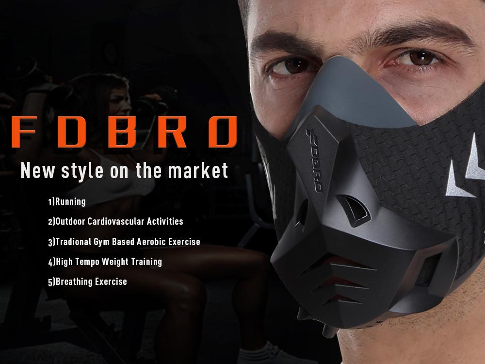 Máscara para Fitness y entrenamientos deportivos resistencia en cardio