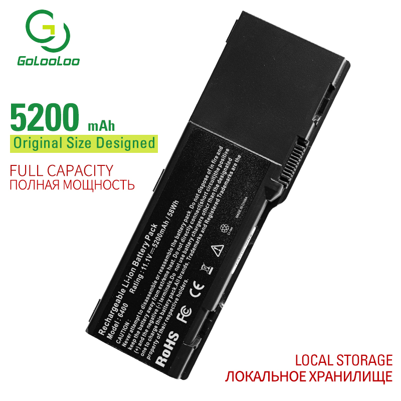 Golooloo 6 cells laptop <font><b>battery</b></font> for <font><b>Dell</b></font> <font><b>Inspiron</b></font> <font><b>1501</b></font> 6400 E1505 131L 1000 GD761 HK421 JN149 KD476 PD942 PD945 PD946 PR002 image