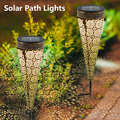Outdoor Solar Light Waterproof Garden LED Solar Powered Light Landscape Lawn Solar Lamp Patio Path Lighting Torch Decoration