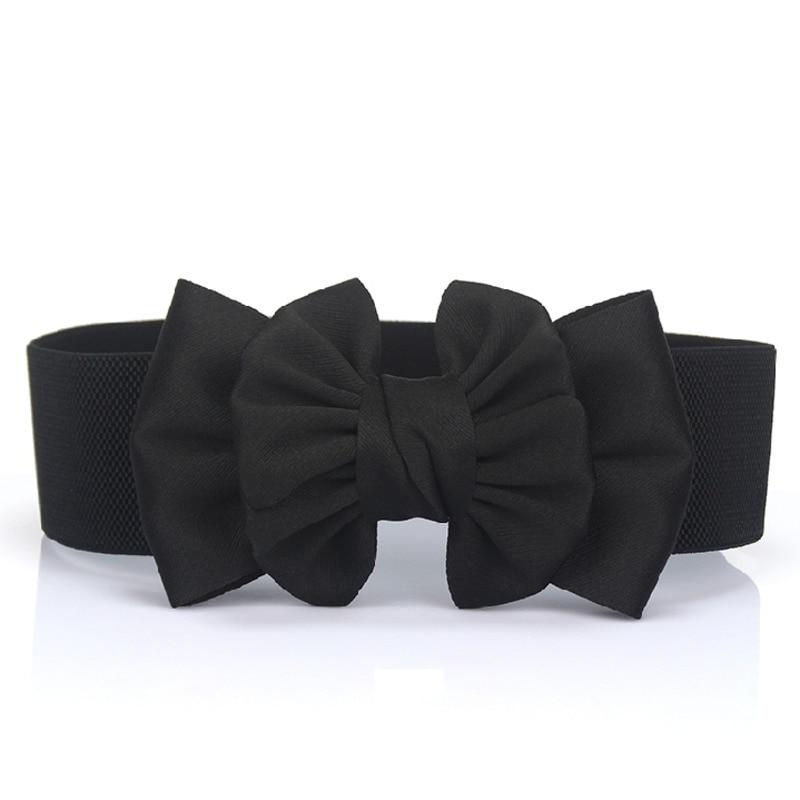 2020 New Design Bow Elastic Corset Belt Tide High Fashion Belts For Women All-match Solid Belt Stylish Waistband Female ZK939