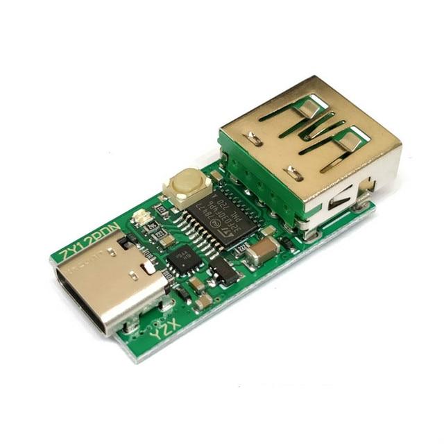 Zy12pds tipo-c USB-C pd2.0 3.0 para dc usb engano rápido carregamento gatilho polling detector