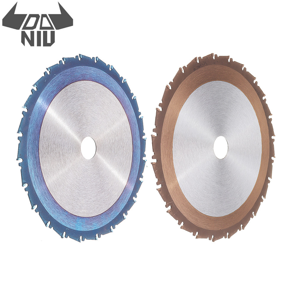 DANIU 1PC 24T 210mm TCT Circular Saw Blade Blue Or Titanium Or Bronze Coating Woodworking Cutting Disc Tools Saw Blade