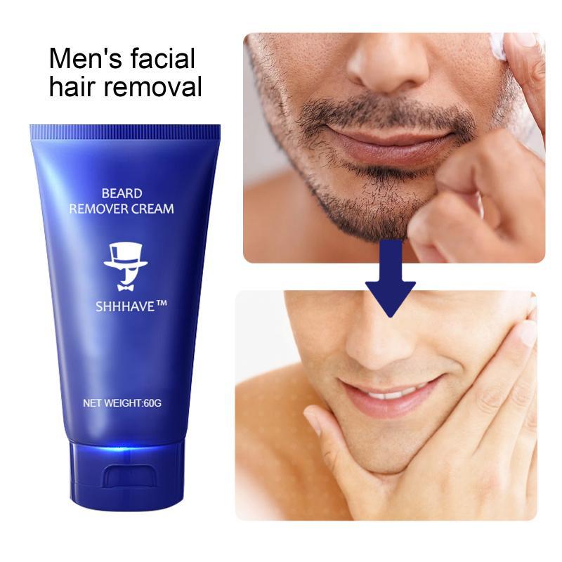 60ML Shaving Cream Painless Non-irritating Razorless Beards Removal Cream Natural Depilatory Smooth Face Shrink Pores Skin Care