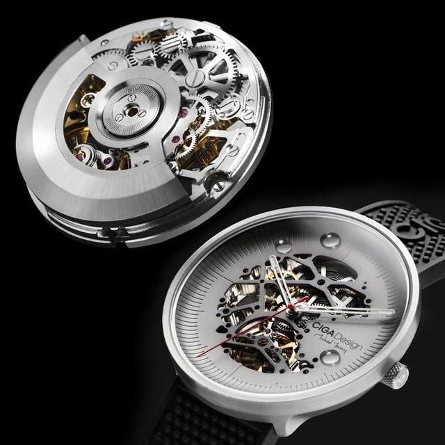 Ciga Ontwerp Ciga Horloge Mijn Serie Titanium Editie Automatische Holle Mechanische Horloge Vrouwen Mannen Fasion Horloge