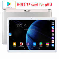 Global Version Free shipping 10 inch Tablet PC 3G Phone call 32GB ROM Android 9.0 WiFi 1280*800 IPS 2.5D Glass+Gifts