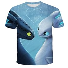 3d Print T shirts Cartoon Men Tee Cool Dream Work Teen Casual tee 2020 How to Train Your Dragon 3d Men Anime  Casual T shirts