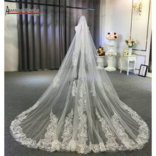 New one layer lace veil with comb wedding bridal veils 3*3