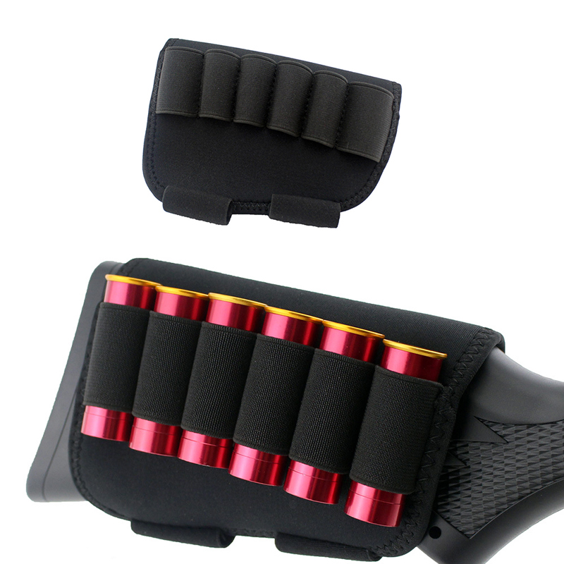 Hunting Ammo Bag Accessories Molle Cartridge Belt Airsoft Tactical Pouch 6 Shots 12 20 Gauge Shot Gun Shell Gauge Holder