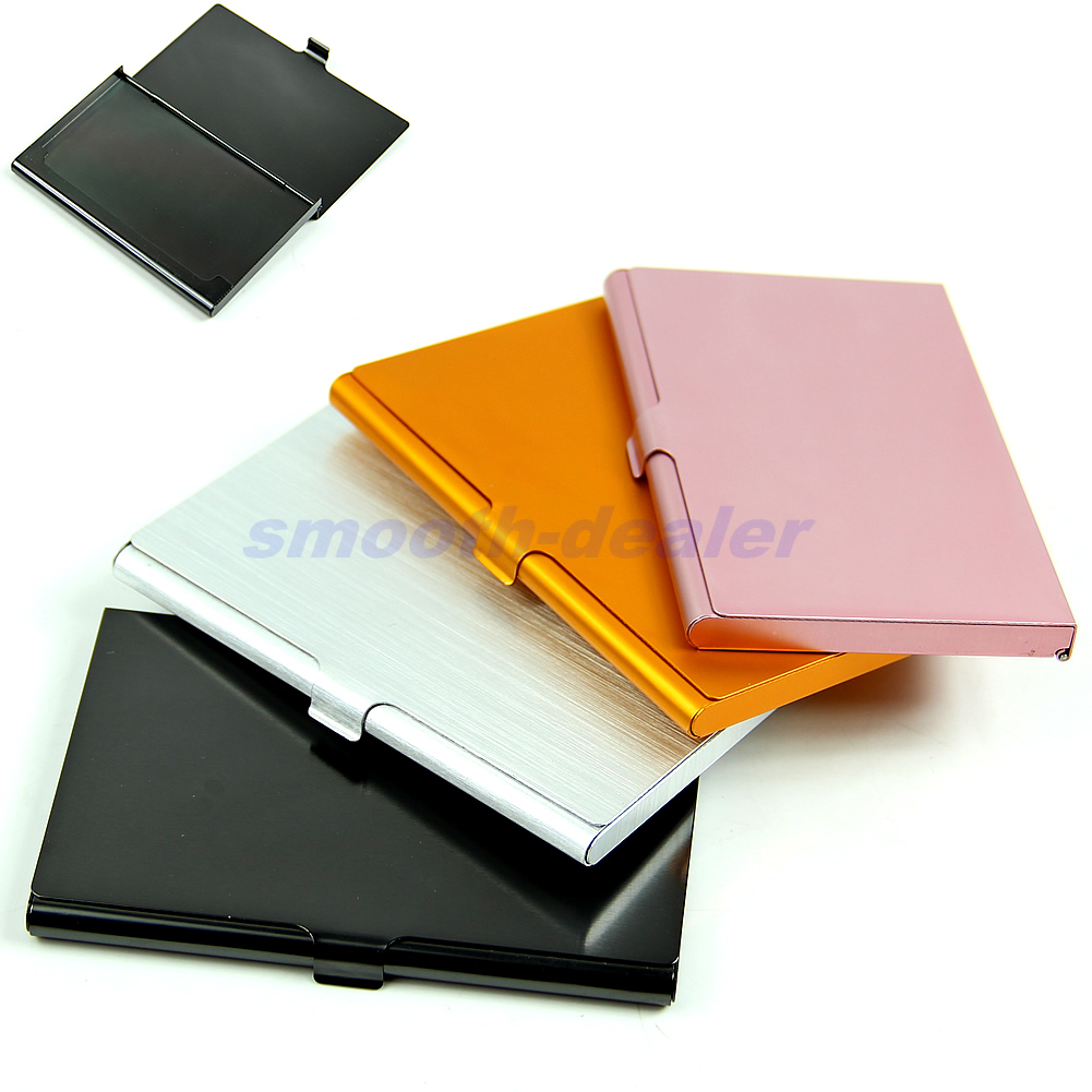 Universal Pocket Business Name Credit ID Card Holder Metal  Cover Case Alloys