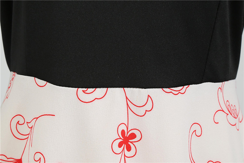 Women Long Sleeve Winter Vintage Dresses Sexy Black Music Note Print V-neck Rockabilly Pin up Party Dress Vestidos Plus size 616