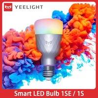 Yeelight bombilla LED inteligente 1S/1SE lámpara inteligente 110V 220V 6W 8,5 W E27 E26 RGBW Control remoto trabajar con Google MiHome Alexa SmartThing