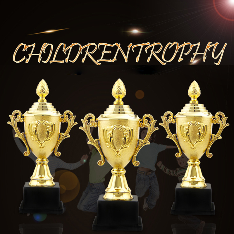 Custom Champions League Trophy Cup Azalea Electroplating Gold Trophy Craft Souvenirs Team Competitions School Supplies Kids Gift