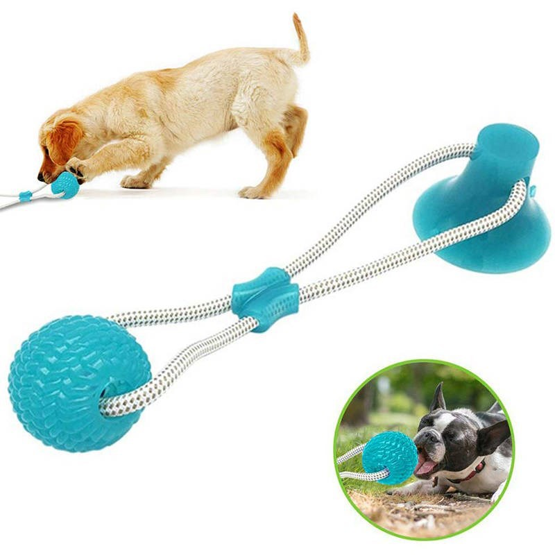 Игрушки для домашних животных с присоской, игрушка для собак с мячом из термопластичной резины, жевательные Резиновые Игрушки для маленьких собак, резиновая игрушка для собак-0