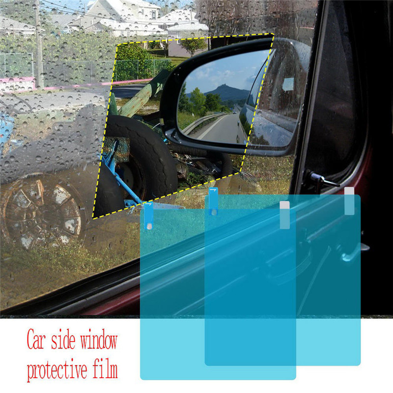 Waterproof Anti-fog Car Side Window Protective Film Clear Car Motorcycle Rear View Mirror Protective Soft Film Car Accessories