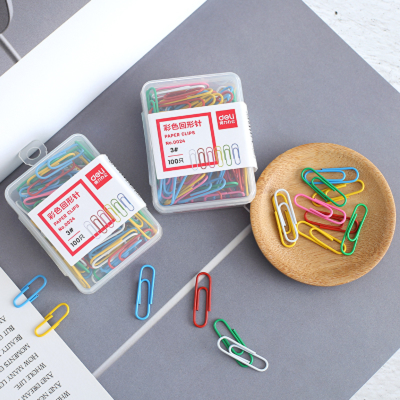 100 Pcs/lot Candy Color Office Clips Cute Mini Metal Memo Paper Clip Bookmark Children'S Student Stationery School Supplies
