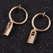 1Pcs Irregular Geometric Mini Lock Stud Earrings Set 2019 New Rhinestone Earrings for Women Gift Pendientes Aretes De Mujer