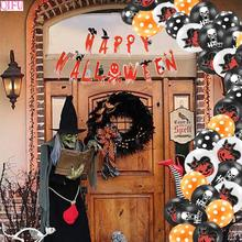 QIFU Happy Halloween Cat Costume Scary Party Decorations For Home Pumpkin Horror Props Accessories