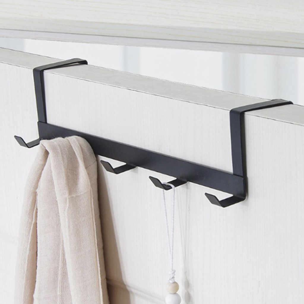 Hats Over The Door Hooks Coats Towels Metal Organizer Over Door Hooks for Hanging Clothes Bags 6 PCS Strong Z-Shaped Hooks Door Hanger