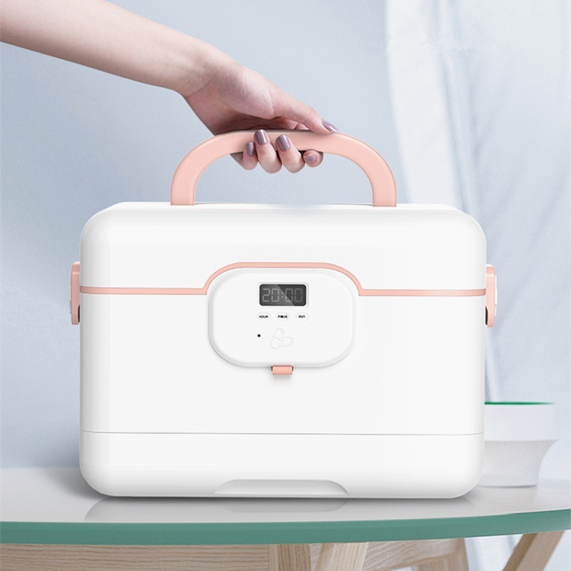 Large-capacity Multi-layer Home Smart Medicine Box First Aid Kit Portable Emergency Storage Alarm Clock To Remind Take Medicine