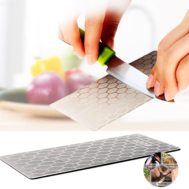 Afilador de cuchillos de piedra de diamante 400 #1000 # afilador de cuchillos de piedra afilador herramienta de corte de piedra de afilar de nido de abeja ultrafino