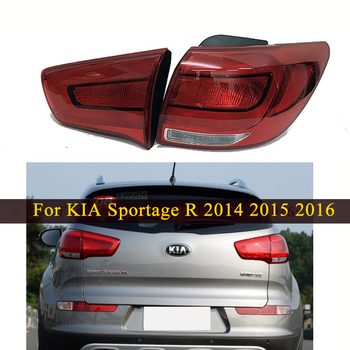 цена на MIZIAUTO 1PC Rear Tail lights For KIA Sportage R 2014 2015 2016 Rear Brake Bumper Light Tail Stop Lamp Car Product