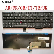 Sp/ar/fr/gr/it/tr/uk novo teclado do portátil para lenovo w540 w541 w550s t540 t540p t550 l540 edge e531 e540