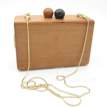 Retro Wood Day Clutch bag Banquet Shoulder Crossbody Bags Women Evening Bags Chain Box Handbags Party Wedding Purse Bolsas Mujer cocktail prom evening bag long box beautiful girl party banquet purse retro style clutches messeng bag women dinner handbags