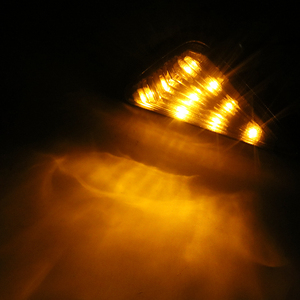 Image 3 - 1 זוג Piranha אור 9 LED הפעל אור מעושן צבע משולש אופנוע מחוון גבוהה כוח איתות אופנוע נצנץ