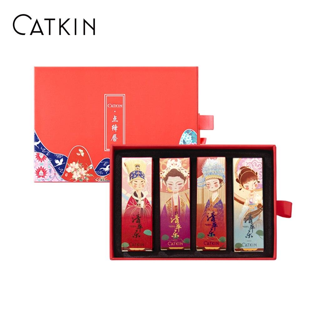 catkin rouge matte batom 4 pcs conjunto impermeavel cetim duradouro nutrir hidratante suave 0 13 onca