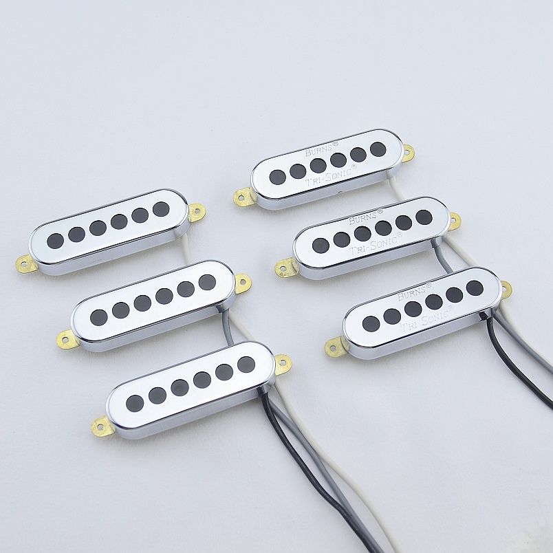 1 Set (3 pièces) Burns micros Tri-sonic simple Alnico pour guitare électrique fabriqué en corée