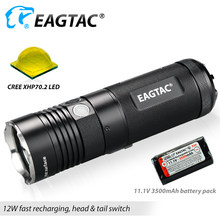 EAGATC SX30L3-R Pro LED Flashlight XHP70.2 4850 Lumens Compact Torch Five Outputs Built in Rechargeable 18650 3500mAh Battery(China)