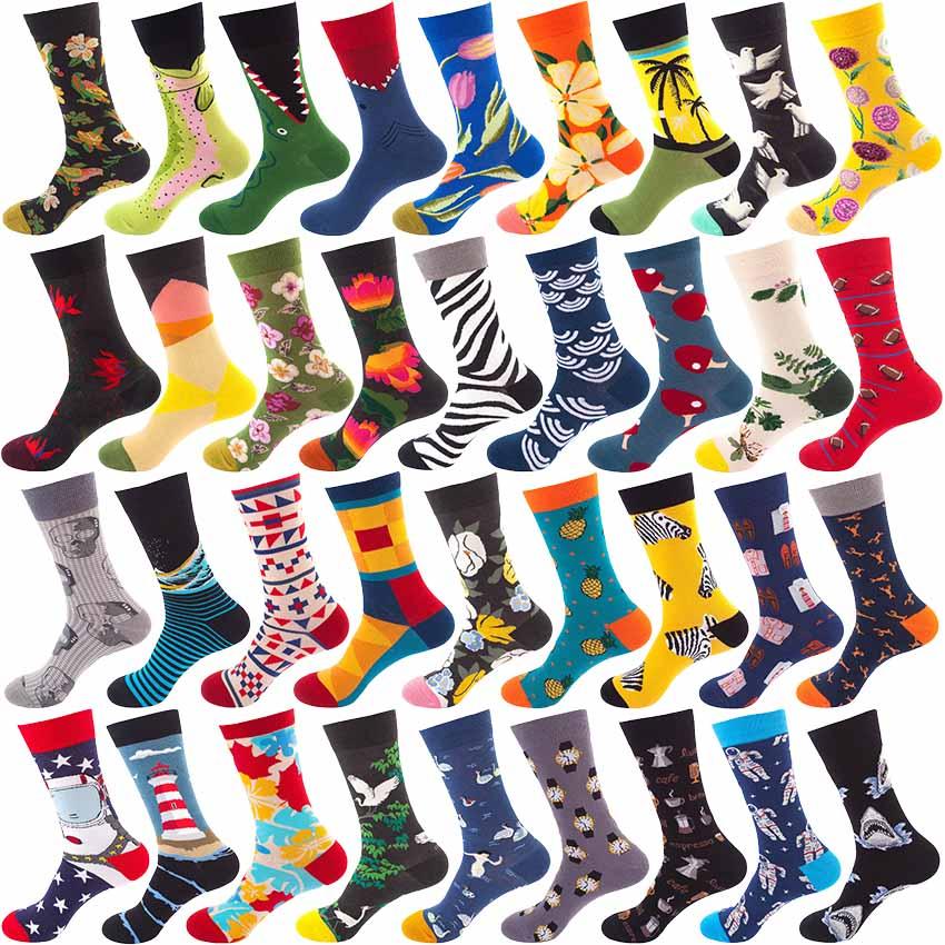 Men's socks winter sweat-proof breathable deodorant sports men's cotton socks men's casual fashion happy socks retro men socks
