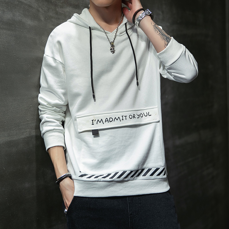 Hooded Long-sleeved Sweater Men Printed Europe and America Large Size Spring and Autumn Pullover Fashion Hoodie Casual Trend Men 3