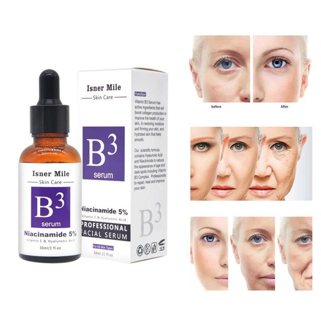 Niacinamide Serum Facial Serum Vitamin B3 Firming Repair Skin Anti Wrinkle Anti Aging Moisturizing Brighten Skin Care 30ML TSLM1