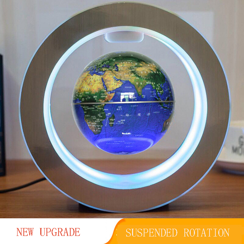 4-Inch led rotating magnetic floating ball night light world globe school office supplies home decoration children's toys gift