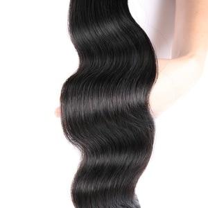 Image 3 - Body Wave 40 Inch Bundles With Closure Malaysian Hair MS Lula Natural Remy 100% Human Hair Bundles 4x4 Closure With 3 Bundles