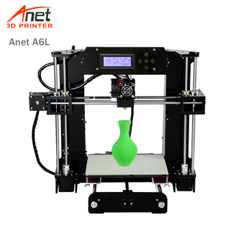 цена на Anet A6L Auto leveling 3D Printer kit DIY Reprap Prusa i3 3D Printer With PLA 10m Filament Impresora 3D Drucker