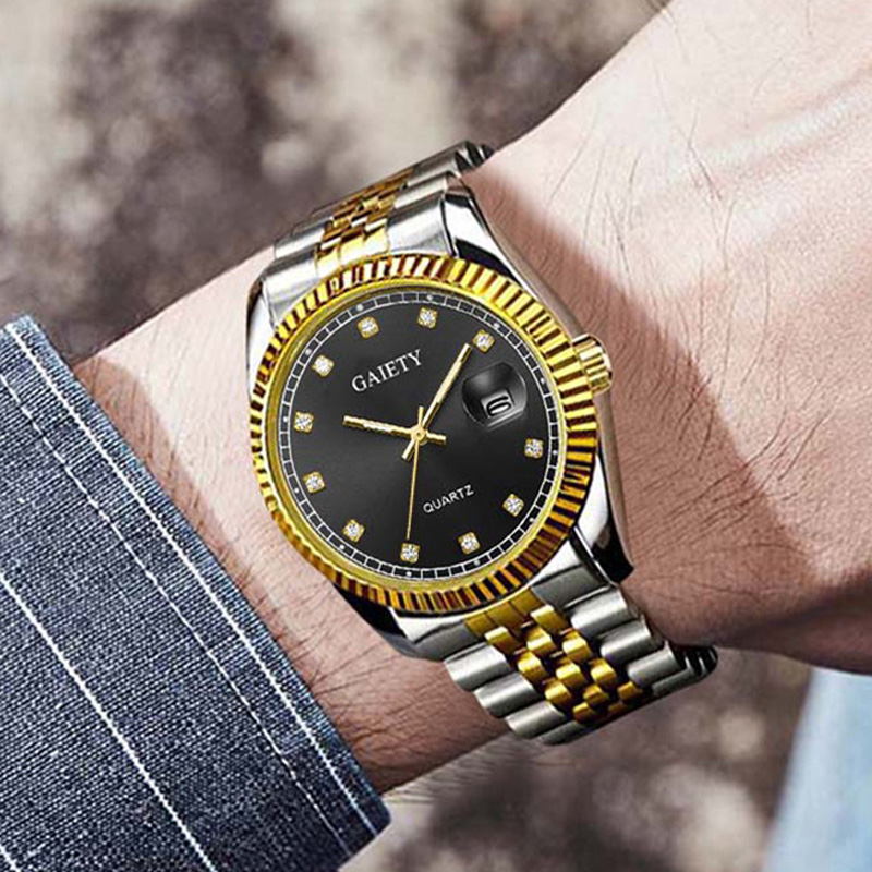 Luxury Diamond Men Watch 2019 Top Brand Fashion Men's Quartz Rolexable Watch Man Stainless Steel Waterproof Calendar Clock Male