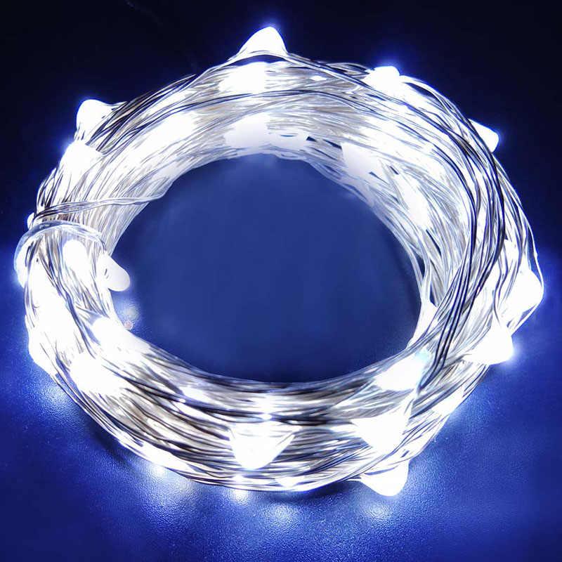 Fairy ไฟ LED Garland Silver Wire งานแต่งงานตกแต่ง Corker String สำหรับขวดหัตถกรรมแก้วใหม่ปี/คริสต์มาส/วาเลนไทน์
