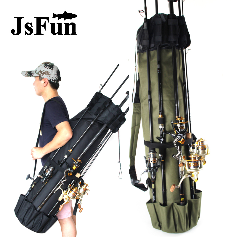 Waterproof Fishing Rod Bag Cylindrical Nylon Fishing Bags Portable Multi Use Travel Tackle Storage Case Large Capacity PJ222