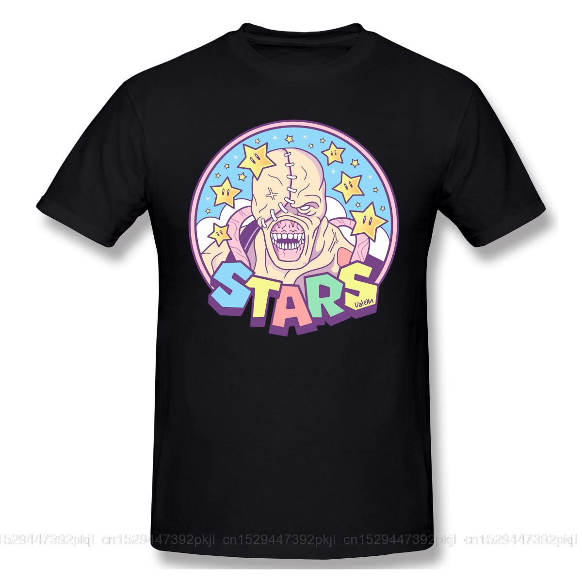 T Shirts Men Nemesis STARS T-shirt High Quality Tee Father Day Tops 100% Cotton Clothing Residented Evil Zombie Game